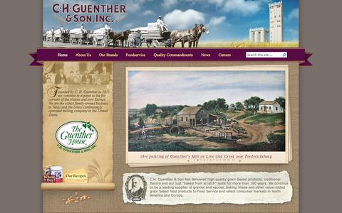 Screenshot of Home Page chg.com - C.H. Guenther & Son, Inc. - captured Oct. 1, 2014