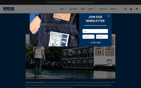 Screenshot of About Page benzakdenimdevelopers.com - OUR STORY – Benzak Denim Developers - captured Dec. 18, 2018