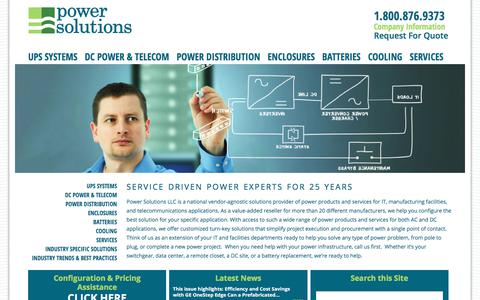 Screenshot of Home Page power-solutions.com - Home - Power Solutions - captured Aug. 9, 2017