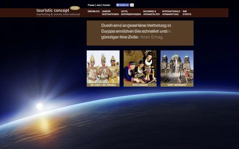 Screenshot of Home Page tcme.com - TCME touristic concept: Home - captured Oct. 9, 2014