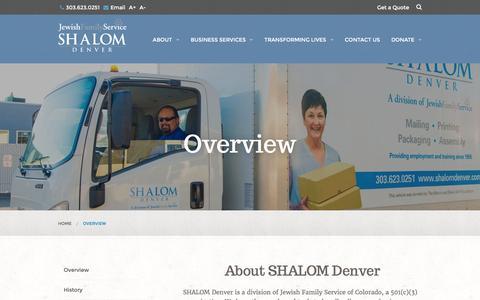 Screenshot of About Page shalomdenver.com - About Shalom Denver - captured March 24, 2016