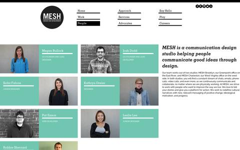 Screenshot of Team Page meshfresh.com - People | MESH Design & Development - captured Oct. 3, 2014