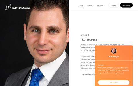 Screenshot of Home Page rzfimages.com - Headshot Photography by RZF Images, NY, NJ, CT - captured Sept. 21, 2018