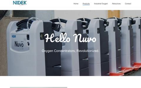 Screenshot of Products Page nidekmedical.com - Products – Nidek Medical Products Inc. - captured Aug. 20, 2019