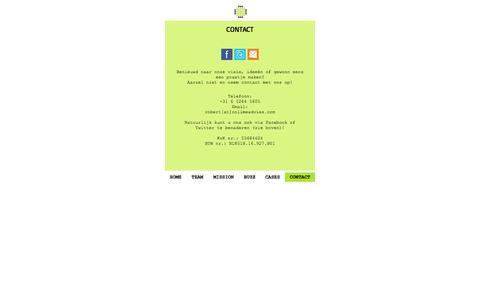 Screenshot of Contact Page onlimeadvies.com - Contact - captured Dec. 7, 2016