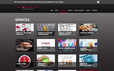 Screenshot of Services Page hkstrategies.com - Services   Hill+Knowlton Strategies - captured Sept. 19, 2014