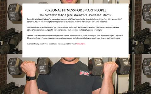 Screenshot of Signup Page personallyfit.net - online landing - Personally Fit - captured July 26, 2017
