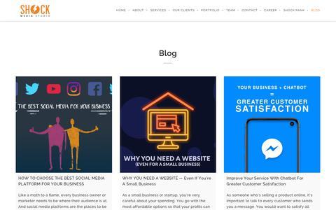 Screenshot of Blog shockmediastudio.com - Blog | Best Digital Marketing Agency Malaysia - captured Sept. 14, 2019