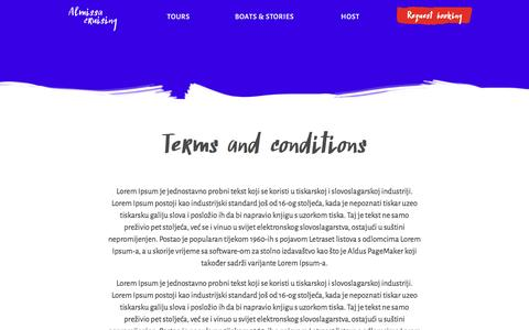 Screenshot of Terms Page almissa.hr - Terms and conditions - Almissa - captured Feb. 5, 2016