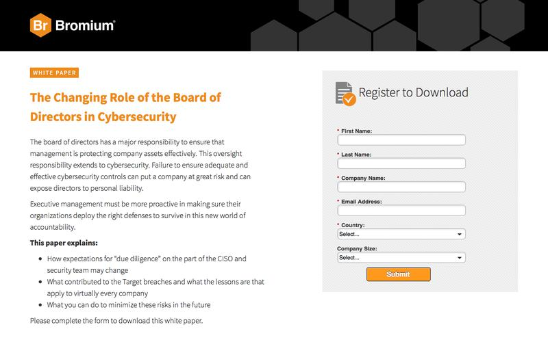 Bromium: White Paper - The Changing Role of the Board of Directors in Cybersecurity