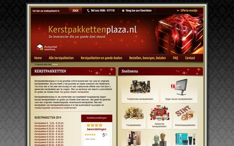 Screenshot of FAQ Page kerstpakketten.tv - Kerstpakketten nodig? Bekijk de GROOTSTE collectie van NL! - captured Oct. 6, 2014