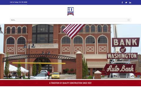 Screenshot of Home Page hbdgc.com - Home - HBD Construction - captured Jan. 22, 2016