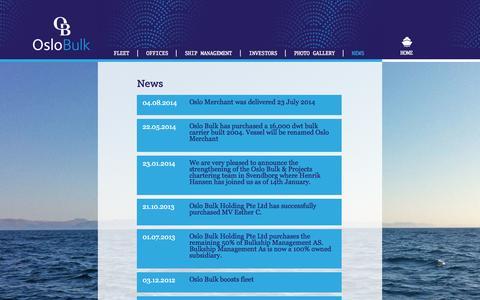 Screenshot of Press Page oslobulk.com - Oslo Bulk - A leading global MPP shipping company - captured Oct. 26, 2014