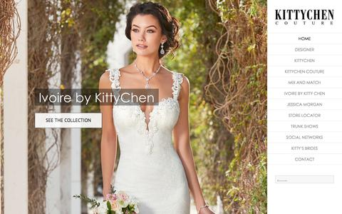 Screenshot of Home Page kittychencouture.com - Wedding Dresses   Bridal Gowns   KITTYCHEN COUTURE - captured Jan. 15, 2018