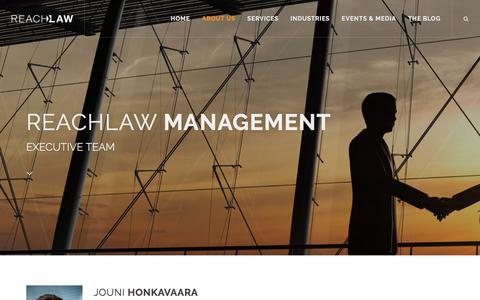 Screenshot of Team Page reachlaw.fi - Management | REACHLaw - captured Sept. 21, 2018