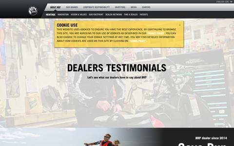 Screenshot of Testimonials Page brp.com - Dealers testimonials | BRP - captured Nov. 6, 2018