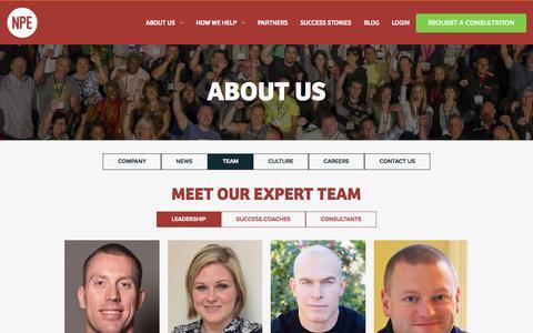 Screenshot of Team Page netprofitexplosion.com - About Us | Net Profit Explosion - captured Nov. 17, 2015