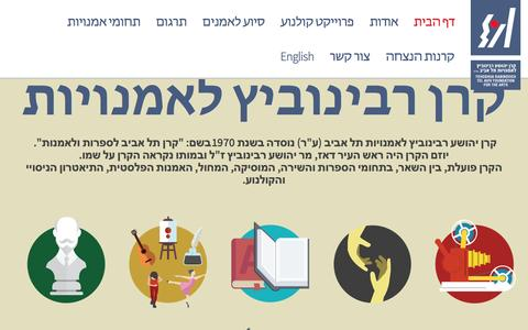 Screenshot of Home Page rabinovichfoundation.org.il - Rabinovich Foundation - captured Jan. 31, 2017