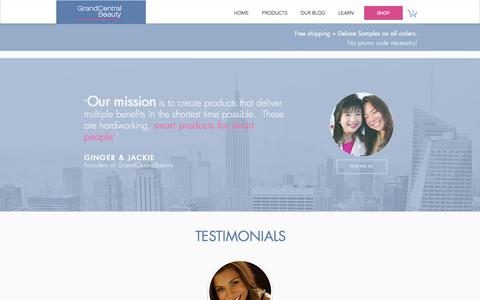 Screenshot of Testimonials Page grandcentralbeauty.com - S.M.A.R.T. PEOPLE | Testimonials - captured May 22, 2017