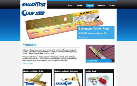 Screenshot of Products Page ballantynesafety.com.au - Products | Ballantyne Safety Systems - captured May 31, 2017