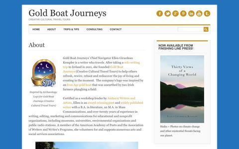 Screenshot of About Page gold-boat.com - About Ellen Girardeau Kempler | Gold Boat Journeys - captured Aug. 16, 2017