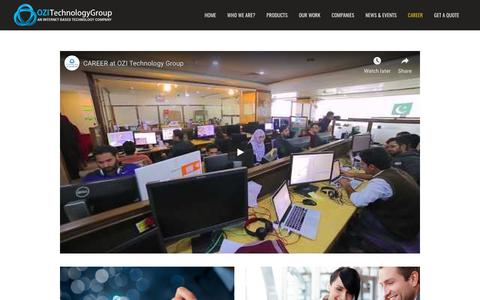 Screenshot of Jobs Page ozitechnology.com - Ozi Technology Group   Life Style & Careers - captured Oct. 19, 2018