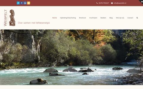 Screenshot of Home Page weisfelt.nl - Weisfelt - captured Feb. 25, 2016
