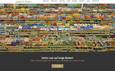 Screenshot of Services Page Team Page goldene-zeiten-berlin.de - Goldene Zeiten Berlin GmbH. Kommunikationsagentur.Goldene Zeiten Berlin GmbH | Kommunikationsagentur - captured Nov. 2, 2014