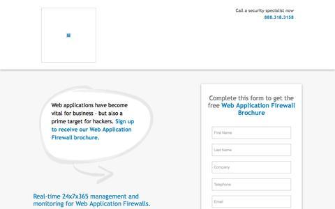 Screenshot of Landing Page secureworks.com - Web Application Firewall   Dell SecureWorks - captured Sept. 6, 2016