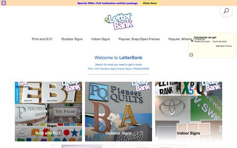 Screenshot of Home Page letterbank.com - LetterBank Online - captured May 18, 2018
