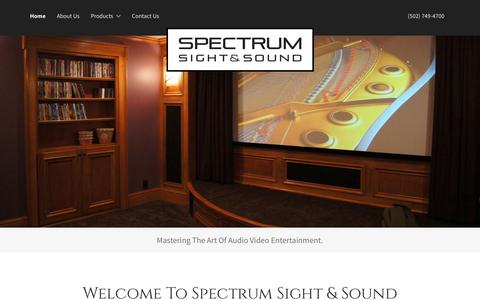 Screenshot of Home Page spectrumsightsound.com - Spectrum Sight & Sound, Inc. - Home Theater, Audio Video - captured Sept. 21, 2018