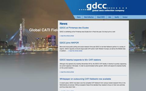 Screenshot of Press Page gdcc.com - GDCC-News - captured Oct. 1, 2014