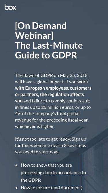 The Last-Minute Guide to GDPR