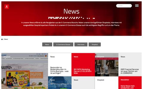 Screenshot of Press Page a-commerce.at - A-COMMERCE News - Alle Neuigkeiten aus der E-Commerce Branche - captured Feb. 1, 2018