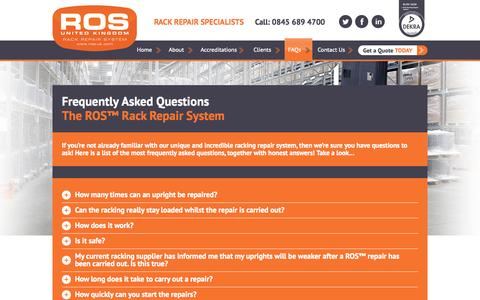 Screenshot of FAQ Page ros-uk.com captured Oct. 6, 2014