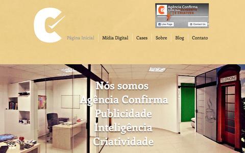 Screenshot of Home Page confirma.com.br - Agência Confirma Marketing - captured Jan. 30, 2016