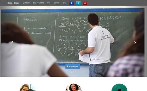 Screenshot of Home Page creamas.com.br - Crea+ Brasil | Somar para Multiplicar - captured Oct. 3, 2014