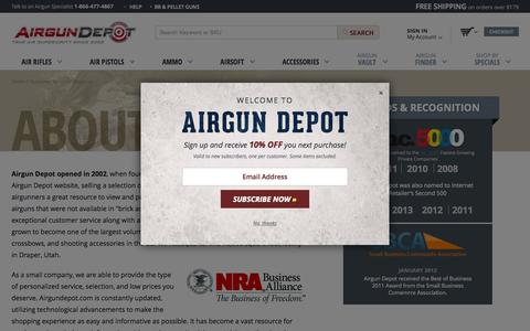 Screenshot of About Page airgundepot.com - About Airgun Depot |  AirgunDepot.com - captured Oct. 27, 2015