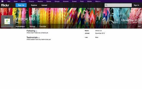 Screenshot of Flickr Page flickr.com - Flickr: inforox - captured Oct. 23, 2014