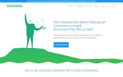 Screenshot of Case Studies Page totango.com - Success Stories | Totango | Customer Success Software - captured Nov. 25, 2015