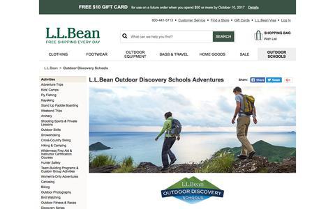 L.L.Bean Outdoor Discovery Schools Adventures