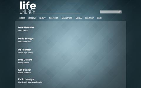 Screenshot of Team Page lifechurchonline.org - Our Team «  LifeChurchOnline.org – Auburndale, FL - captured Oct. 2, 2014