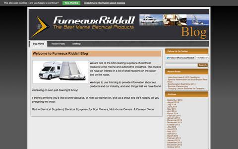 Screenshot of Blog furneauxriddall.com - Welcome to Furneaux Riddall Blog - Furneaux Riddall Marine Electrical Products - captured Sept. 23, 2014