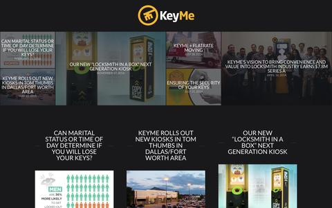 Screenshot of Blog key.me - KeyMe Blog | news, events, products, and behind-the-scenes info from KeyMe - captured Feb. 24, 2016