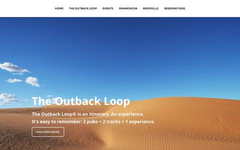 Screenshot of Home Page theoutback.com.au - Home - The Outback Loop - captured June 15, 2016