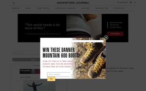 Daily Digest Signup - adventure journal