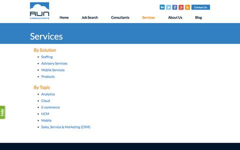 Screenshot of Services Page runconsultants.com - Services - Run Consultants - captured Oct. 9, 2014