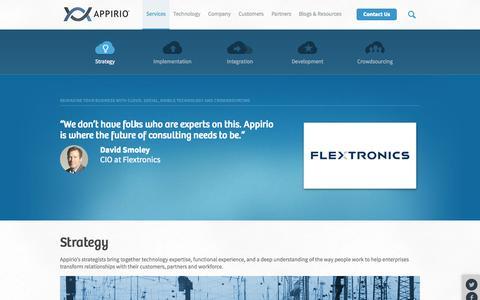 Screenshot of Services Page appirio.com - HR Strategy, IT Strategy and Cloud Strategy Services | Appirio - captured Sept. 13, 2014