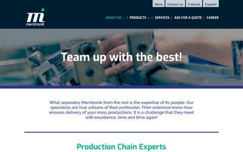 Screenshot of Team Page memtronik.com - Team | Memtronik - captured Oct. 17, 2018