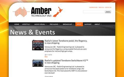 Screenshot of Press Page amber.co.nz - Amber NZ Site News - captured Jan. 22, 2017